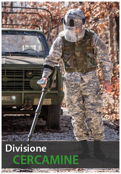 divisione cercamine  metal detector garrett