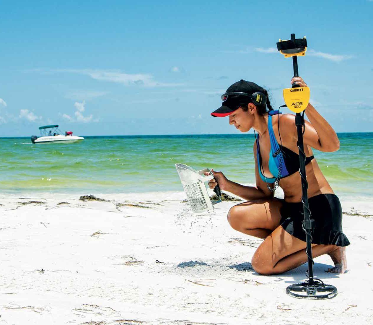 Metal Detector Garrett Ace 400i per spiagge