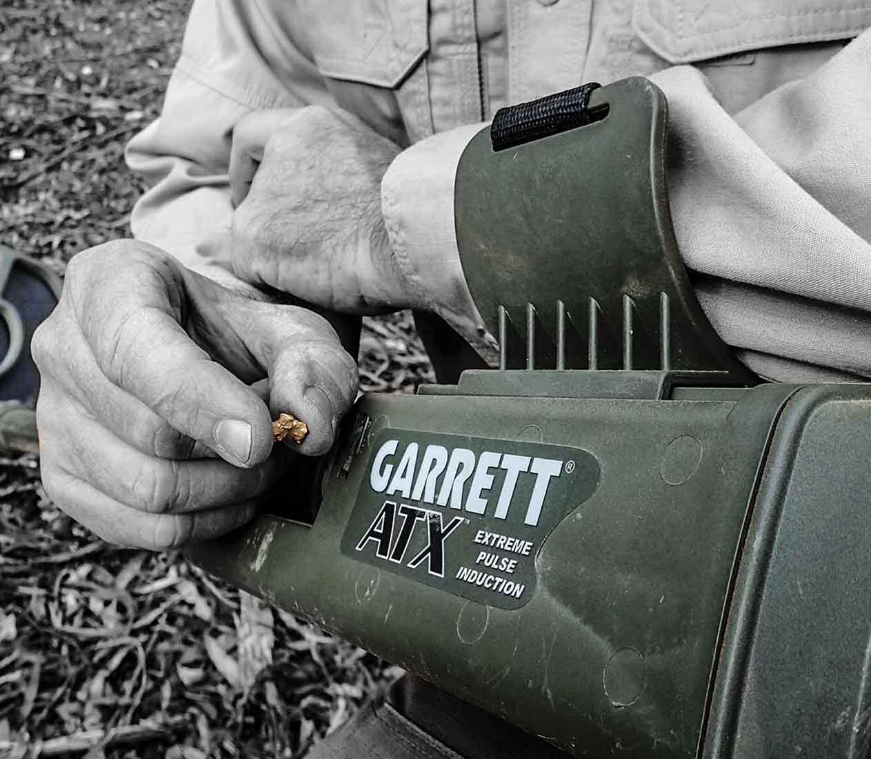 Metal Detector ATX Garrett per rilevare pepite dì oro