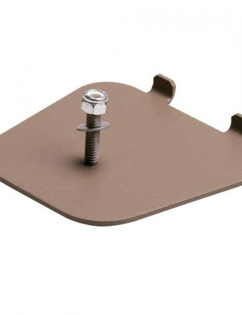 Staffa adesiva per fissaggio a pavimento metal detector a portale